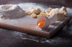 Douth, voedsel die, het koken concept - douth voorbereidingen treffen - progres koken Royalty-vrije Stock Foto's
