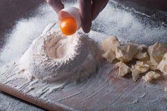 Douth, voedsel die, het koken concept - douth voorbereidingen treffen - progres koken Stock Foto's