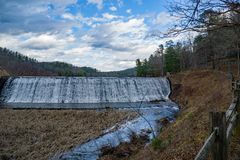 Free Douthat Lake Upper Dam And Spillway - 2 Stock Image - 110772271