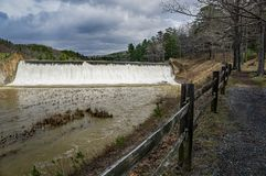 Free Douthat Lake Upper Dam And Trail Stock Image - 114665051