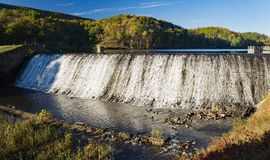 Douthat Lake Upper Dam stock photography