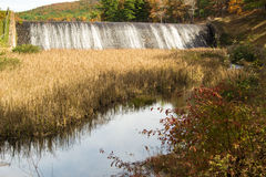 Douthat Lake Upper Dam and Spillway royalty free stock photography