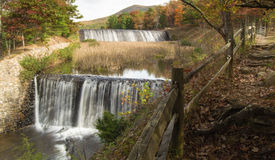 Douthat Lake Upper and Middle Dams and Spillway Stock Photography