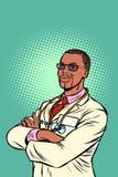 Doutor africano seguro Profissão médica ilustração stock