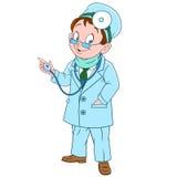 Doutor bonito dos desenhos animados Fotografia de Stock