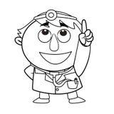 Doutor bonito esboçado Foto de Stock