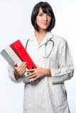 Doutor caucasiano com dobradores imagens de stock royalty free