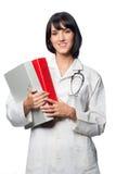 Doutor caucasiano com dobradores imagem de stock royalty free