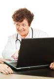 Doutor com boa notícia foto de stock