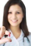 Doutor com comprimido Foto de Stock