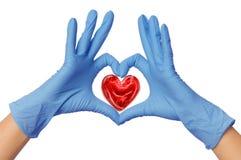 Doutor com coração Foto de Stock Royalty Free