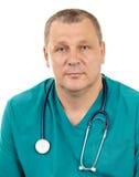 Doutor com estetoscópio. Fotografia de Stock