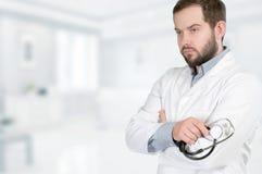 Doutor com estetoscópio Fotografia de Stock
