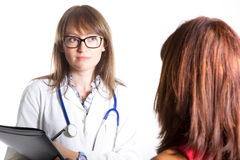 Doutor com paciente fotos de stock royalty free