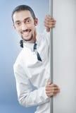Doutor com placa em branco Foto de Stock Royalty Free