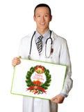 Doutor com placa vazia Foto de Stock Royalty Free