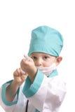 Doutor com seringa Foto de Stock