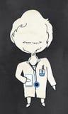 Doutor com trajeto de grampeamento ilustração royalty free