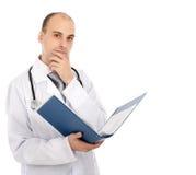 Doutor com um dobrador imagem de stock