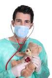 Doutor com um estetoscópio Foto de Stock
