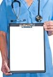 Doutor com uma prancheta. Imagens de Stock