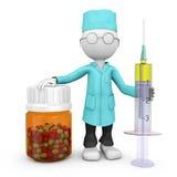 Doutor com uma seringa Fotografia de Stock Royalty Free