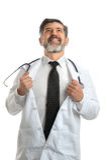Doutor como o herói Fotos de Stock