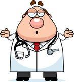 Doutor confuso dos desenhos animados Fotos de Stock Royalty Free