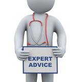 doutor 3d que guarda o aconselhamento especializado ilustração do vetor
