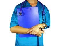 Doutor da medicina da mulher na mão da medicina Imagem de Stock Royalty Free
