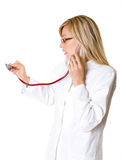 Doutor da mulher. foto de stock