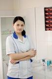 Doutor da mulher na clínica fotografia de stock royalty free