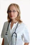 Doutor da mulher nova fotos de stock
