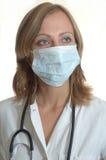 Doutor da mulher nova foto de stock