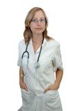 Doutor da mulher nova imagens de stock
