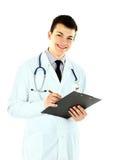 Doutor de encontro ao fundo branco Fotografia de Stock