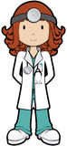 Doutor de Girly Fotografia de Stock