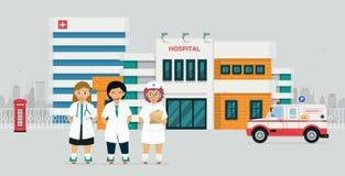 Doutor de hospital ilustração royalty free