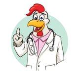 Doutor de Rooser com estetoscópio Fotos de Stock Royalty Free