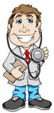 Doutor de sorriso Imagem de Stock