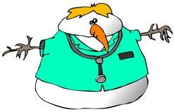 Doutor do boneco de neve ilustração do vetor