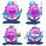 Doutor do porco ilustração stock