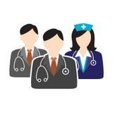 Doutor dos cuidados médicos e enfermeira Illustration Imagens de Stock Royalty Free
