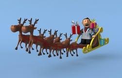 Doutor dos desenhos animados - ilustração 3D Foto de Stock