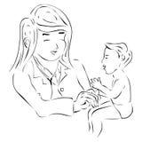 Doutor e bebê Ilustração Stock