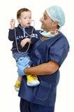 Doutor e bebê Foto de Stock Royalty Free