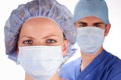 Doutor e enfermeira 3 fotografia de stock
