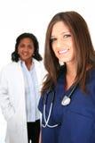 Doutor e enfermeira fotografia de stock