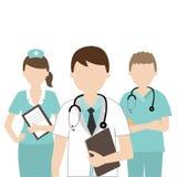Doutor e enfermeira médicos Foto de Stock