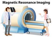 Doutor e enfermeira que trabalham com máquina da ressonância magnética Fotografia de Stock Royalty Free